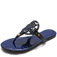 Blue Patten Leather Sandals **5.5 ONLY**