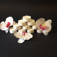 Unscented No Dye Soy Tea Lights Hand Made of Premium Soy Wax No Dye