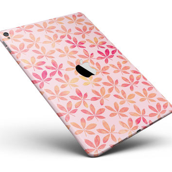 """The Pink and Orange Watercolor Clovers Full Body Skin for the iPad Pro (12.9"""" or 9.7"""" available)"""