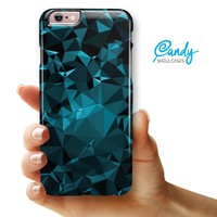 "Turquoise and Black Geometric Triangles iPhone 6 Plus or 6s Plus (5.5"" iPhone) Ultra Gloss Candy Shell Case"