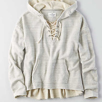 AEO LACE-UP HOODIE