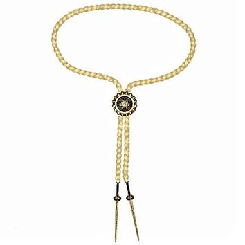 Wonder Woman Lasso of Truth Gold Bolo Necklace