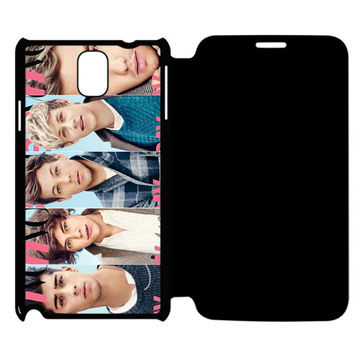 1D facebook Samsung Galaxy Note 4 Flip Case Cover