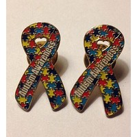 2 Autism and Aspergers Awareness Puzzle Pin