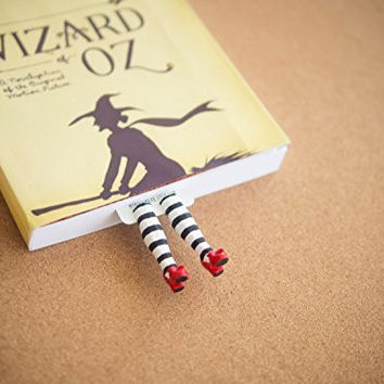 Handmade wicked witch bookmark. Inspired by Wizard of OZ. Great present! Ruby Slippers book marker.