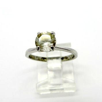 Vintage Avon Topaz Ring, Sterling Silver Size 6