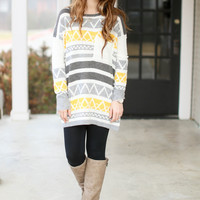 Diamond Moon Sweater - Yellow