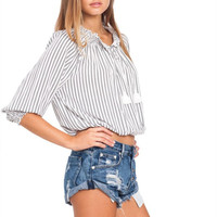 Indian Summer top in yacht stripe