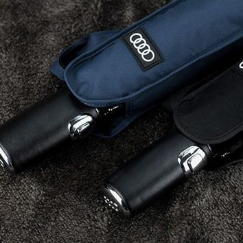 DCCKLG2 High quality Audi Genuine Leather Handle  Umbrella