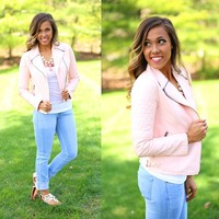 Be Like The Cool Kids Jacket in Blush