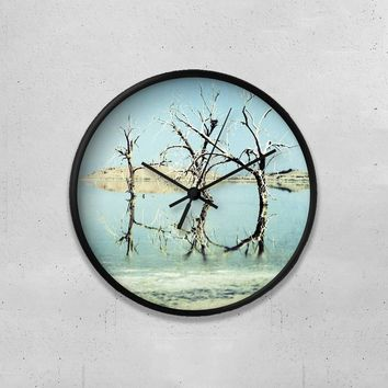 "Salton Sea Three Trees 10"" Wall Clock"