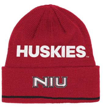 adidas Northern Illinois Huskies Red Sideline Coach Cuffed Knit Hat