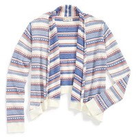 Girl's Tucker + Tate Fair Isle Cardigan