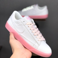 HCXX 19June 1114 Nike Blazer Low lx SB Canvas Skateboard Shoes whtie pink