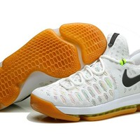 """Nike  Zoom  KD 9 Kevin Durant  Ⅸ """"White Colorful"""" Men's    Basketball Shoes"""
