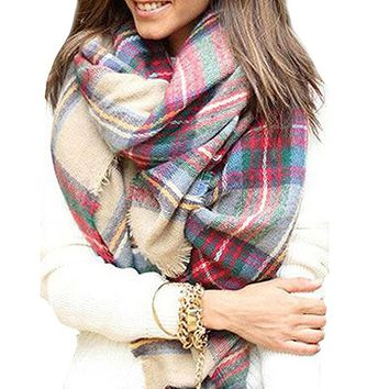 Women's Stylish Warm Blanket Scarf Gorgeous Wrap Shawl