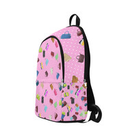 Little Purses and Pink Polka Dots Fabric Backpack for Adult (Model 1659)   ID: D1563863