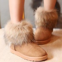 ladies winter worm bootes winter shoes Snow boots soft sole 3 color