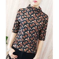 Burberry Fashion New More Letter Print Top Women