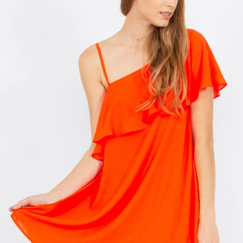 Sugar Lips Other Half Flirty Orange Dress