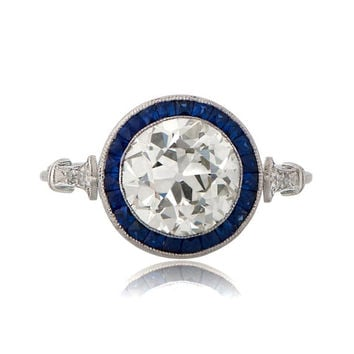 Estate Engagement Ring - 2.24ct Old Mine Cut Diamond, L color and VS1 clarity - Vintage Engagement Ring