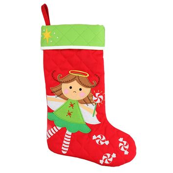 Stephen Joseph Angel Embroidered Christmas Stocking