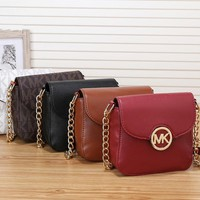 """Michael Kors"" Simple Casual Fashion Letter Print Metal Chain Single Shoulder Messenger Bag MK Women Small Bag"