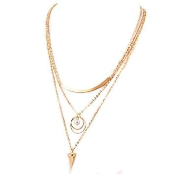 Pearl Multilayer Chain Necklaces
