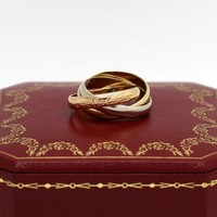 Les must de Cartier Trinity Tricolour 18KT Gold mit Box in Gr. 51