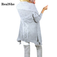 RealShe 2016 Women Sweater Long Sleeve Autumn Winter Cardigans For Woman Hollow Out  Burderry Feminino Sweater Women Clothes