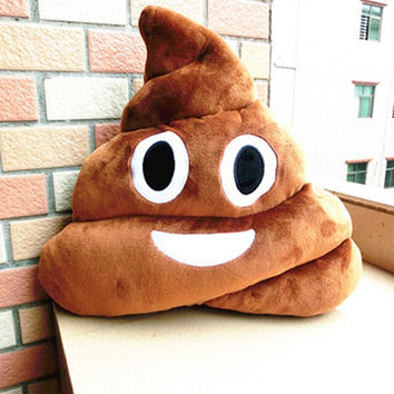 Funny Poop emoji pillow decorative pillow gifts