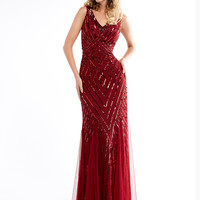 Lush by Jasz Couture 1319 V-neck Prom Dress