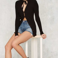 Bow Hard or Bow Home Cardigan