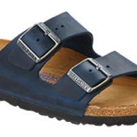 Birkenstock Soft Footbed Insignia Blue Oiled Leather Arizona