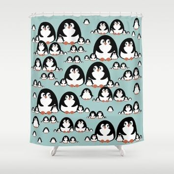 Penguins Shower Curtain by VanessaGF