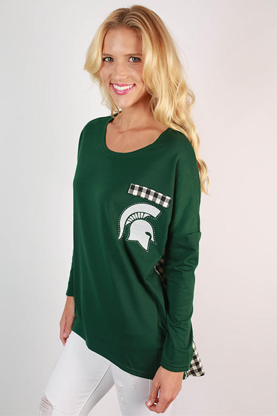 Michigan State University Gingham Tunic From Shop Impressions