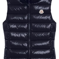 Moncler Ghany Water Resistant Shiny Nylon Down Puffer Vest | Nordstrom