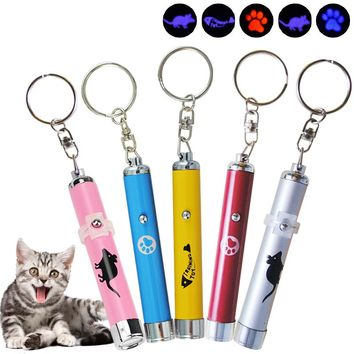 1pcs Funny Cat Chaser Toys Interactive LED Training Tools For Kids To Play Laser Pointer Light Pen With Bright Animation Mouse