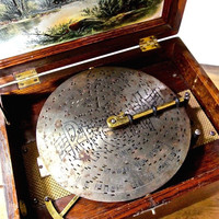 Style 22 Regina Music Box  Circa 1897 With Discs