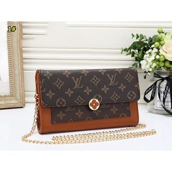LV Louis Vuitton Fashion New Chain Shopping Leisure Shoulder Bag Women 1#