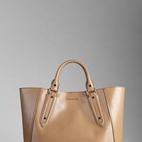 Large Patent London Leather Portrait Tote Bag