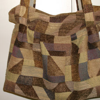 Soft slouch or hobo tote bag for shopping travel and more.  Free shipping.