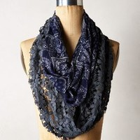 Daisy Bandana Scarf by Anthropologie Blue One Size Scarves