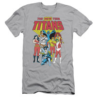DC/NEW TEEN TITANS - S/S ADULT 30/1 - SILVER -