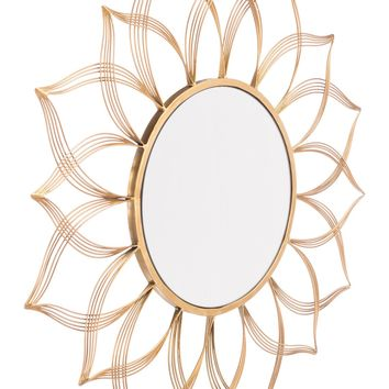 Flower Gold Mirror Gold