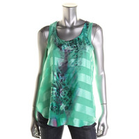 Style & Co. Womens Woven Printed Blouse