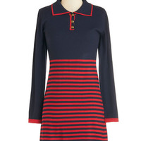 ModCloth 60s Short Length Long Sleeve A-line Brunch With the Best of Them Dress