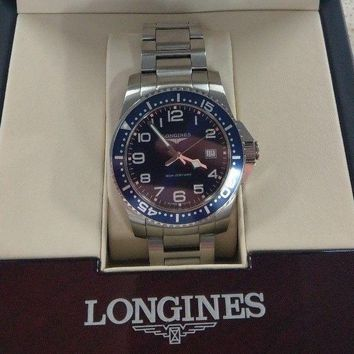 GENUINE LONGINES HYDRO CONQUEST MENS WATCH WATER RESISTANT BLUE FACE IN BOX