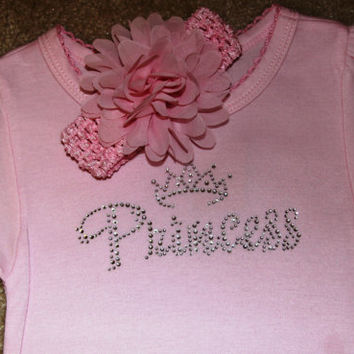 Rhinestone Princess Shirt, Rhinestone T-Shirt, Princess Design on White Black,Pink T-Shirt,Toddler T-Shirt,Princess T-Shirt,Girls T-Shirts