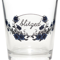 BLITZED DOUBLE OLD FASHION GLASS